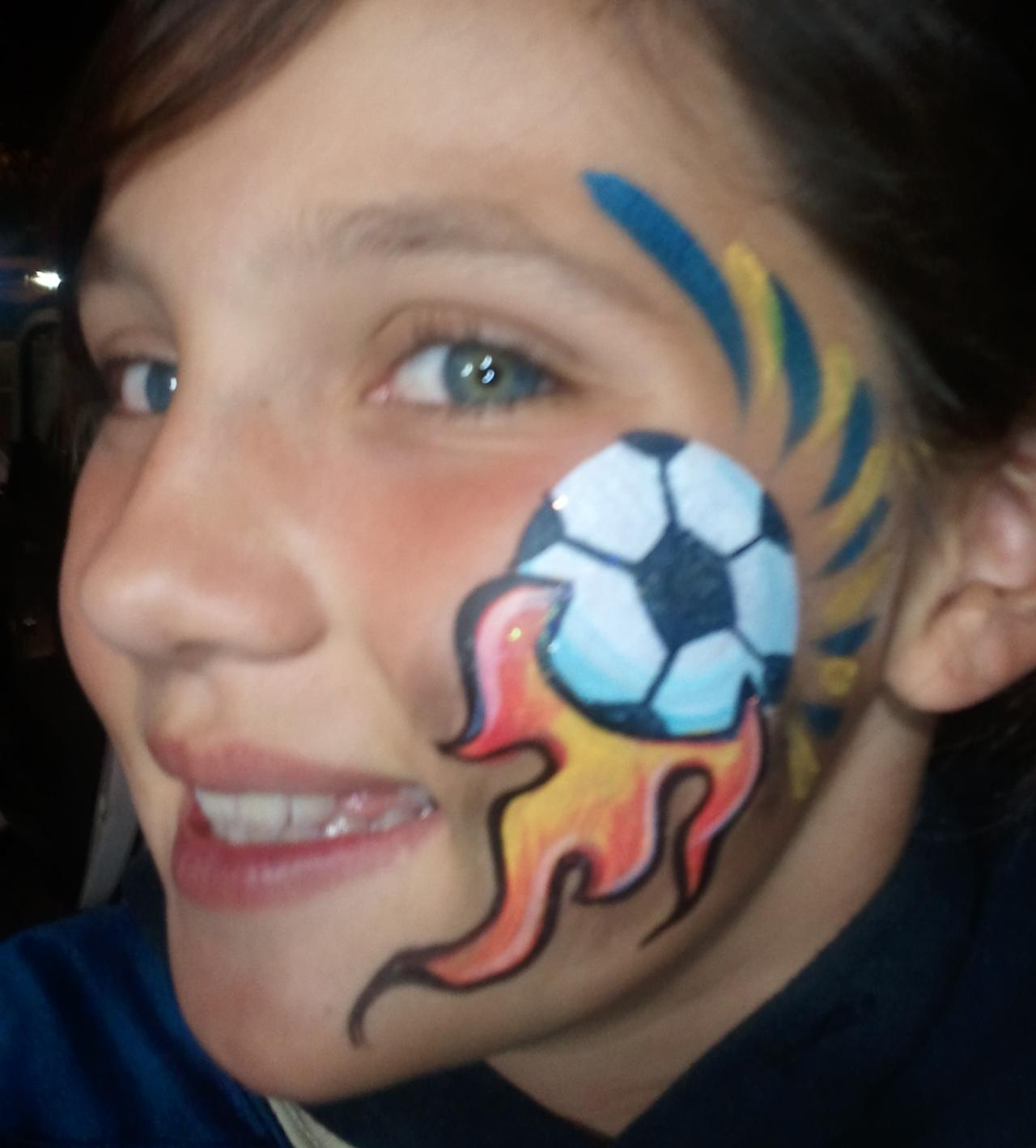Face painting on pinterest face paintings exotic makeup for Painting ideas for boys